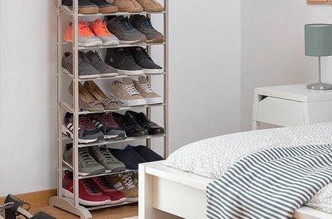 Letisztult megjelenésű 10 polcos cipőtartó