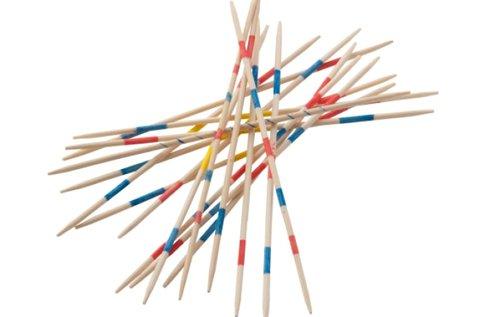 41 részes Mikado játék készlet fa dobozban