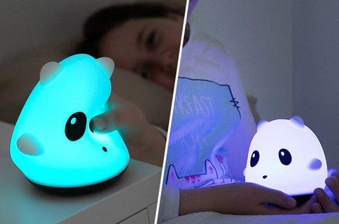 Színváltós puha panda lámpa LED világítással