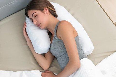 Ergonómikus U alakú párna oldalt alváshoz