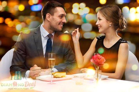 2 személyes romantikus bőségtál desszerttel