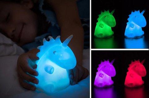 LEDicorn színváltós unikornis éjszakai fény