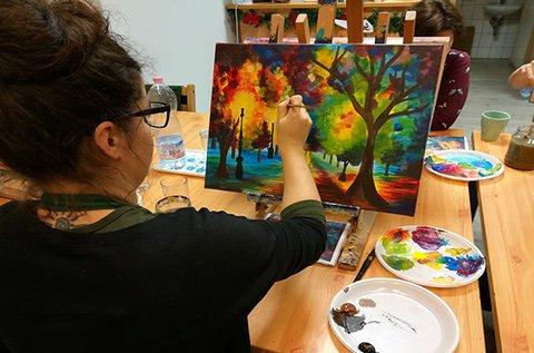 Élményfestés kurzus képzett festőművészekkel