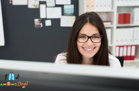 Beltéri, multifokális szemüveg irodai munkához