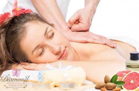 90 perces aromaterápiás teljes testmasszázs