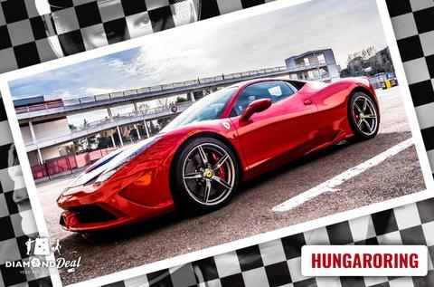 2 körös Ferrari 458 Italia élményvezetés Mogyoródon