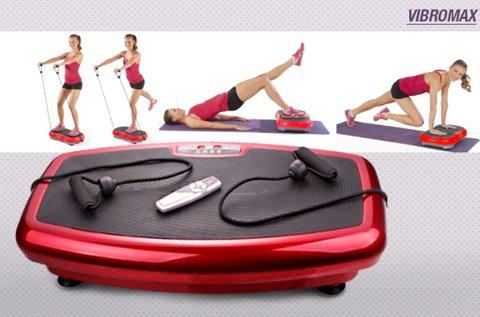 VibroMax vibrációs tréner erősítő gumiszalagokkal