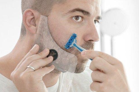 Hipster Barber szakállvágó sablon fésűkkel