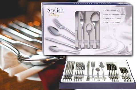 24 részes Stylish evőeszköz készlet
