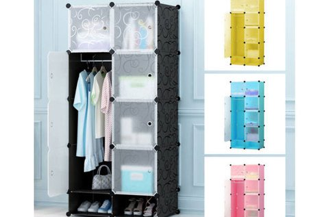 Műanyag elemes szekrény 4 színben