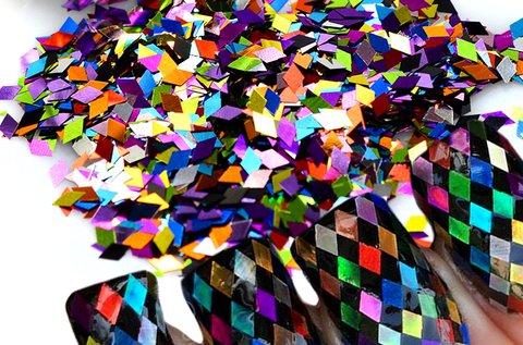 Körömdíszítő flitter mix 12 féle színben