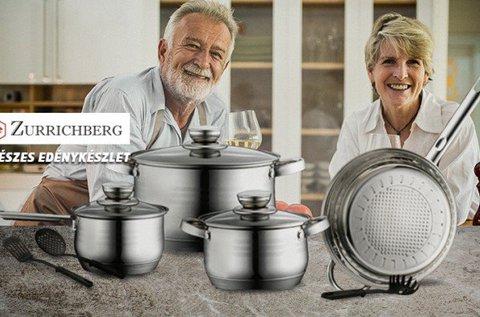 Zurrichberg rozsda- és saválló edénykészlet