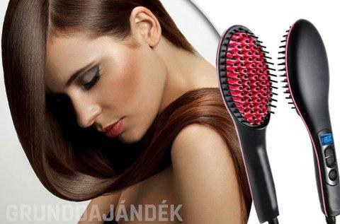 Elektromos hajegyenesítő fésű hőálló nyéllel
