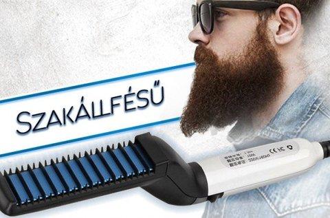 Elektromos haj- és szakállegyenesítő fésű