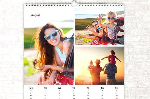 Négyzet alakú, egyedi fotós naptár akár 13 oldallal