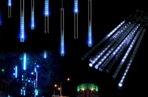 Meteor LED világítás hideg fehér fénnyel