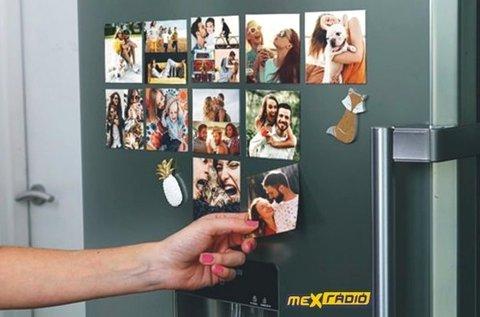 4 db 6x9 vagy 9x13 cm-es hűtőmágnes saját fotóval