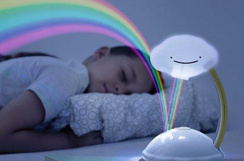Felhőcskés szivárvány projektor LED fényforrással