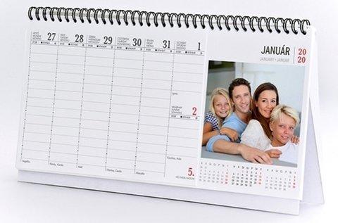 Asztali naptár 54 db saját fényképpel