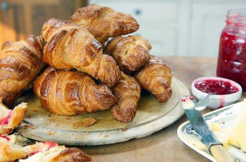 Frissen sült, illatos croissant készítő workshop