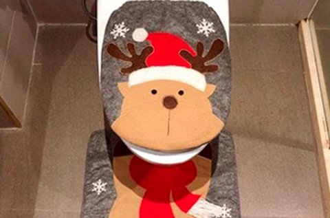 Dobd fel a fürdőszobát karácsonyi wc üléshuzattal!