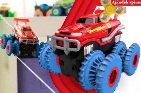 Vagány játék teherautó különleges autópályával