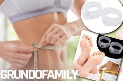 2 db súlycsökkentő akupresszúrás lábujjgyűrű