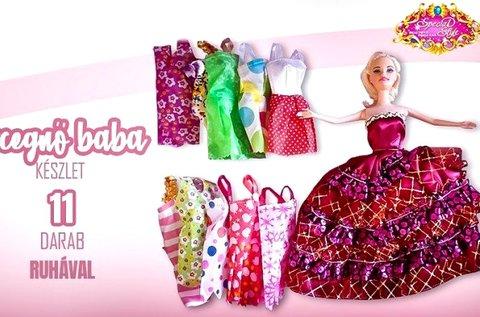 Hercegnő baba 11 szett ruhával