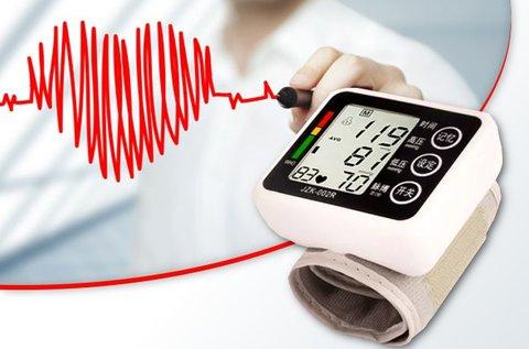 Csuklóra helyezhető vérnyomásmérő