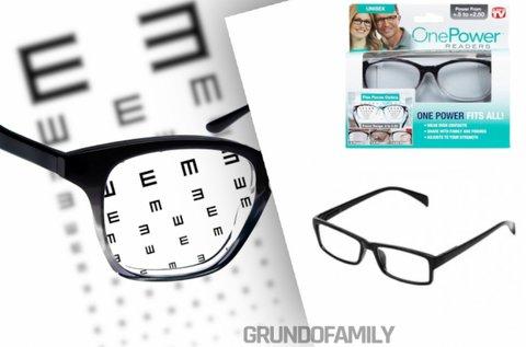 Rugalmas fókuszú dioptriás olvasószemüveg