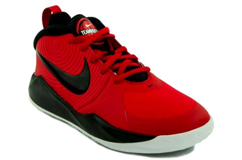 Nike Team Hustle D9 GS piros-fekete sportcipő