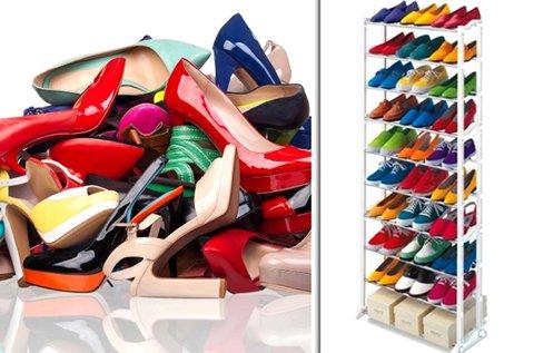 Praktikus cipőtartó állvány 30 pár lábbeli tárolására