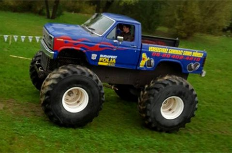 Monster Truck Bigfoot vezetés Veresegyházon