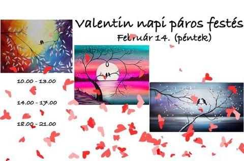 Valentin-napi páros élményfestés