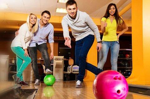 2 óra bowlingozás 4 főre üdítővel vagy csapolt sörrel