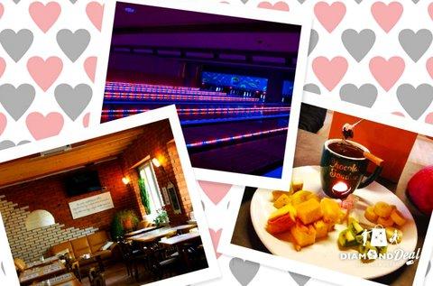 1 db szív alakú pizza + 1 óra bowlingozás pároknak