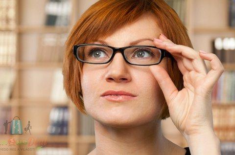 Szemüvegkészítés divatos kerettel, látásvizsgálattal