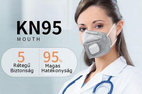 Mouth 5 rétegű védőmaszk levegőszűrővel