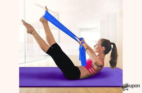 2 db erősítő gumiszalag otthoni pilates edzéshez