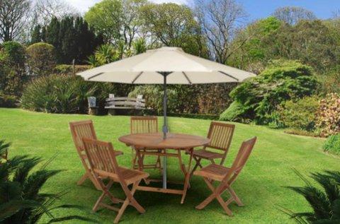 Extra méretű, tetőkarral nyitható napernyő