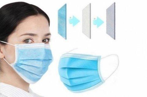 3 rétegű eldobható, hipoallergén szájmaszk