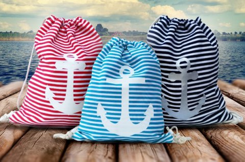 Trendi Rimini hátizsák erős textil anyagból