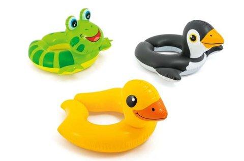 Mókás, állatos Intex felfújható úszógumik