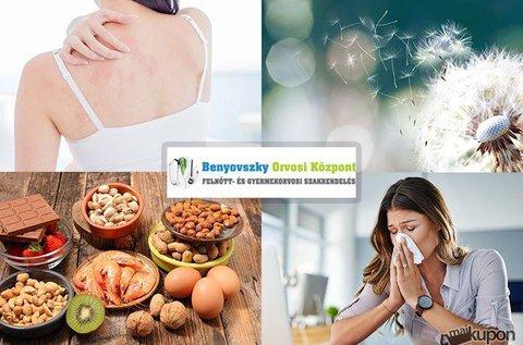 Átfogó, 104 pontos allergia vizsgálat
