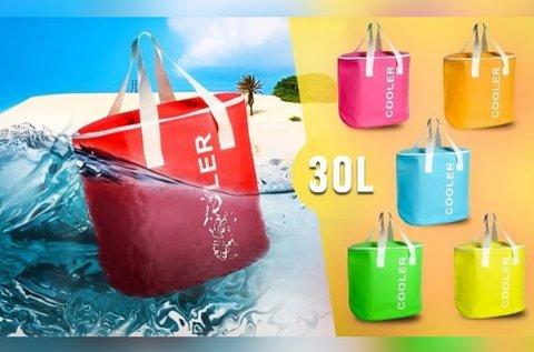 Cooler 30 l-es hűtőtáska vidám nyári színekben