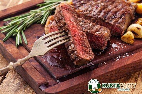 Steakre vágyva főzőkurzus vacsorával 1 fő részére