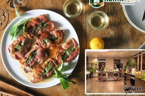 Olasz főzőkurzus 1 főnek ízletes menüvel