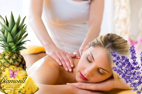 90 perces teljes testes aromaterápiás masszázs
