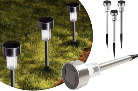 10 db napelemes kerti lámpa inox házban
