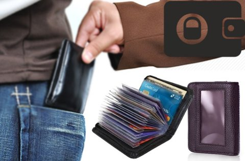 Biztonsági pénztárca és kártyatartó